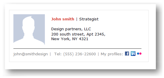 email signature example